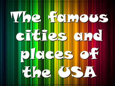 The famous cities and places of the USA. P h i l a d e l p h i a.