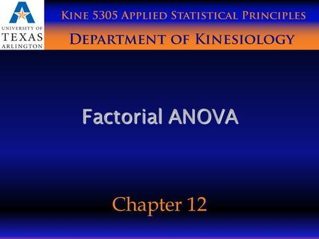 Factorial ANOVA Chapter 12. Research Designs Between – Between (2 between subjects factors) Between – Between (2 between subjects factors) Mixed Design.