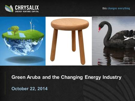 Green Aruba and the Changing Energy Industry October 22, 2014.