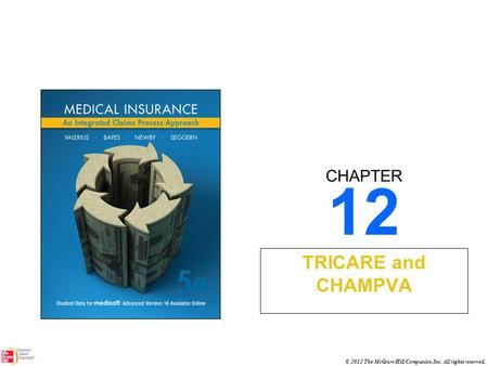 CHAPTER © 2012 The McGraw-Hill Companies, Inc. All rights reserved. 12 TRICARE and CHAMPVA.
