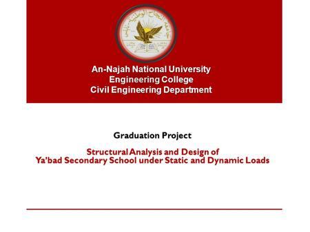 Structural Analysis and Design of