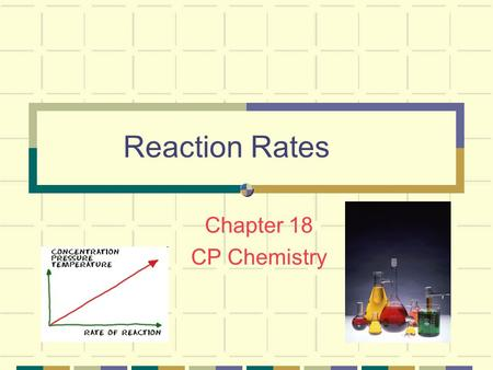 Reaction Rates Chapter 18 CP Chemistry Reactions can be… FAST! Liquid hydrogen and oxygen reacting to launch a shuttle.