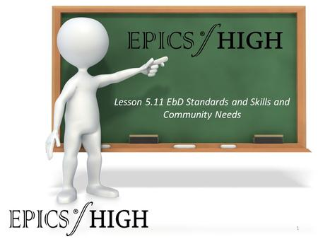 Lesson 5.11 EbD Standards and Skills and Community Needs 1 ® ®