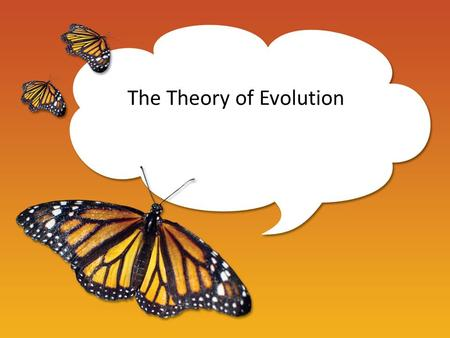 The Theory of Evolution. Evolution a gradual change in the genetic material of a population. (Population = all the animals of the same species living.