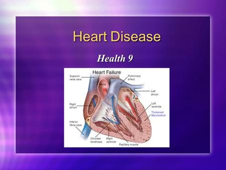 Heart Disease Health 9. Risk Factors for Heart Diseases High blood pressure Diet high in fat Diet high in cholesterol Diet high in salt Family History.