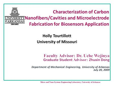 Holly Tourtillott University of Missouri