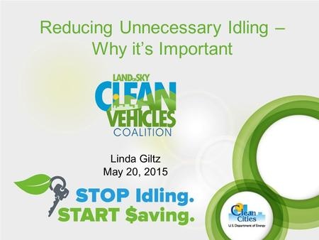 Reducing Unnecessary Idling – Why it's Important Linda Giltz May 20, 2015.