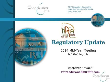 FDA Regulatory Counseling Lake Bluff, Illinois, USA 60044 (847) 234-7500 Regulatory Update Richard O. Wood 2014 Mid-Year Meeting.