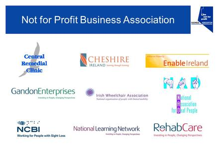Not for Profit Business Association. Welcome and introductions Frank Flannery Chairman Not for Profit Business Association.