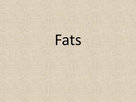 Fats. Functions of Fat Provides energy Adds flavor to food Helps satisfy the appetite Helps promote growth and healthy skin Protects vital organs Vitamins.