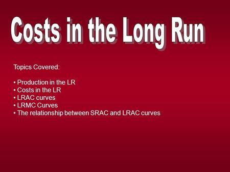 relationship between srac and lrac