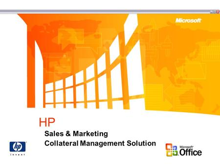 HP Sales & Marketing Collateral Management Solution.