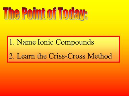 2. Learn the Criss-Cross Method