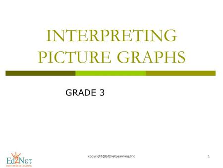INTERPRETING PICTURE GRAPHS GRADE 3.