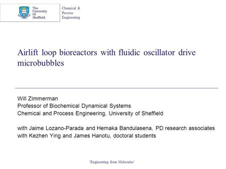 Airlift loop bioreactors with fluidic oscillator drive microbubbles