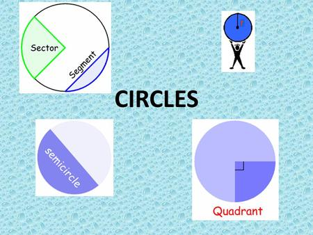 CIRCLES. A circle is a shape with all points the same distance from its center. A circle is named by its center. Thus, the circle to the right is called.