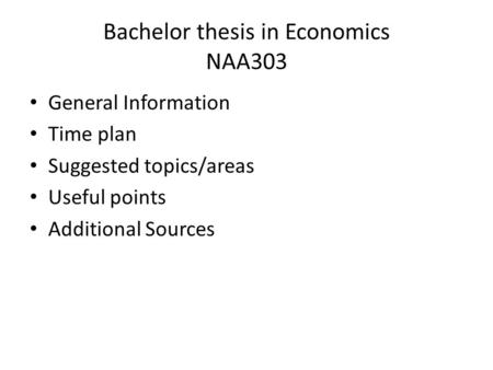 bachelor thesis research plan