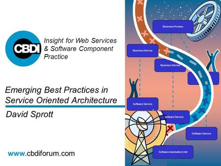 Insight for Web Services & Software Component Practice www.cbdiforum.com Emerging Best Practices in Service Oriented Architecture David Sprott.