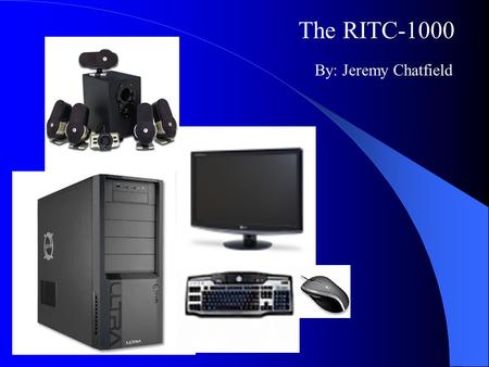 The RITC-1000 By: Jeremy Chatfield. The ASUS P5Q Deluxe Motherboard Socket 775 ATX Intel P45 Northbridge Chip Set 800/1066/1333/1600MHz Front side bus.