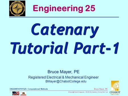 Catenary Tutorial Part-1