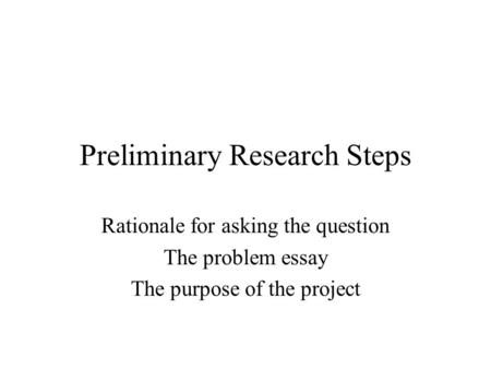 research rationales essays