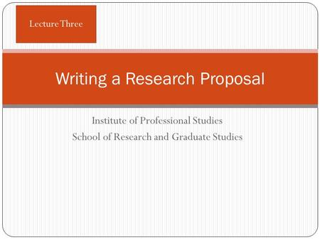 How to write a research proposal for graduate school?