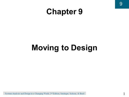 Chapter 9 Moving to Design