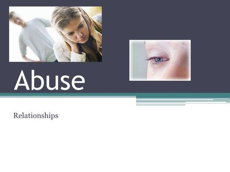 Abuse Relationships. Abuse in relationships: Comes in many different forms According to the CDC, domestic violence is a serious, preventable public health.