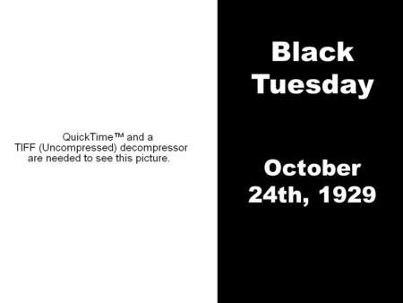 Black Tuesday October 24th, 1929. A Quick Review 1. Habakkuk's First B. Q. Habakkuk 1:2-4 2 How long, O LORD, must I call for help, but you do not.