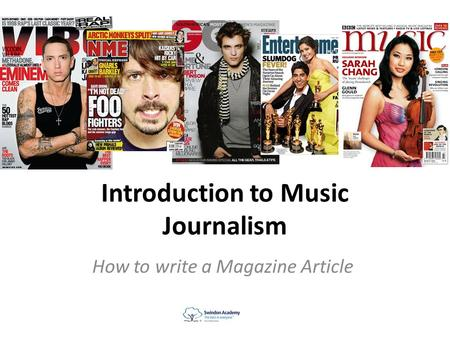 Introduction to Music Journalism