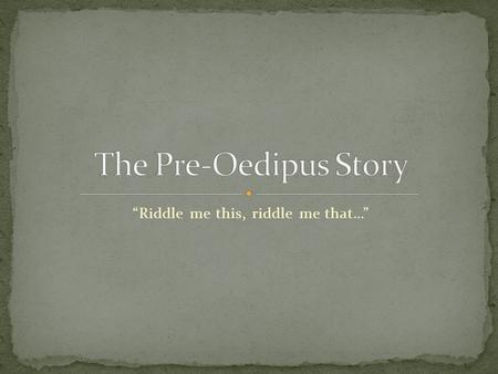 oedipus conflict essay