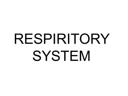 RESPIRITORY SYSTEM. This is the system that consists of very important organs that allows us to breathe. It is responsible for the gas exchange as we.