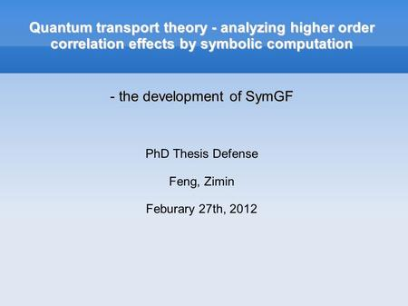phd thesis symbolic theory