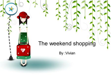 The weekend shopping By :Vivian. 1 communication 2 presentation 3 intensive learning 4 practice Content.