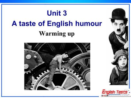 Unit 3 A taste of English humour Warming up. Look at the following pictures. Which picture can make you laugh? I want to lose my weight.