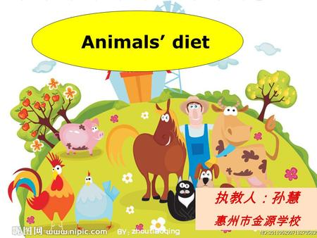 Animals' diet 执教人:孙慧 惠州市金源学校 How can we go there?