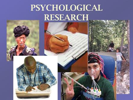PSYCHOLOGICAL RESEARCH. Population & Sample All research is aimed towards a particular population –The larger group that the results should apply to The.