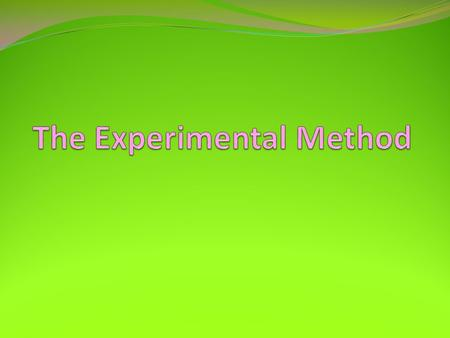 1-2 Experiments Experiment: A controlled test of a hypothesis in which the researcher manipulates one variable to discover its effect on another. Detection.