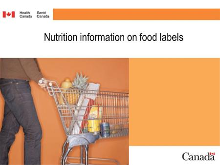 Nutrition information on food labels. What is new? What does it mean? How do you use it? #1.