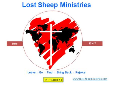 T4T – Session 3 www.lostsheepministries.com. Training T T T T 4 4 For Trainers Session 3.