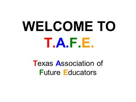 Texas Association of Future Educators