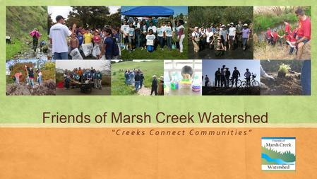 "Friends of Marsh Creek Watershed "" C r e e k s C o n n e c t C o m m u n i t i e s """