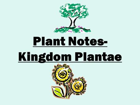 Plant Notes- Kingdom Plantae. Characteristics of Plants Multicellular ( many-celled) Autotrophic ( make their own food) Primary producers in most ecosystems.