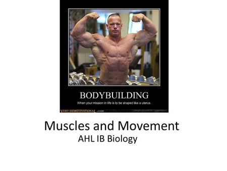 Muscles and Movement AHL IB Biology. STARTER– Watch the video below and answer the questions Which muscles is he using to keep the rock off his body?