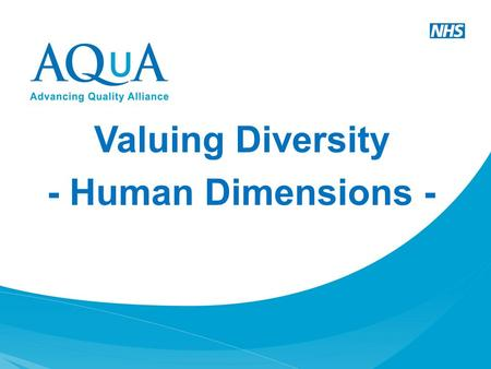 Valuing Diversity - Human Dimensions - IT'S CHRISTMAS TIME!!!!!!!