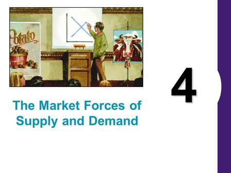 4 The Market Forces of Supply and Demand. MARKETS AND COMPETITION Buyers determine demand. Sellers determine supply.