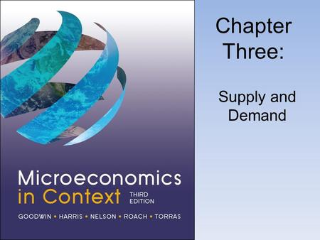 Chapter Three: Supply and Demand. The Theory of Supply.