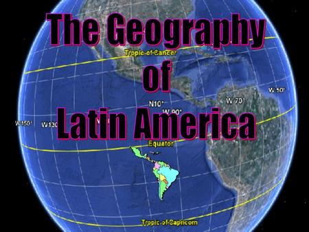 Regions of Latin America Central America The Caribbean South America South America.