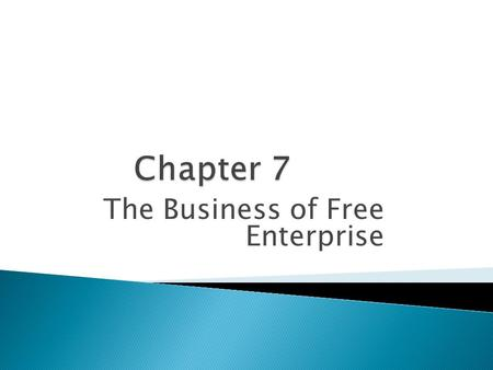 The Business of Free Enterprise.  Entrepreneur—A person who takes a risk to create a new product or to develop a better way to operate a business. 