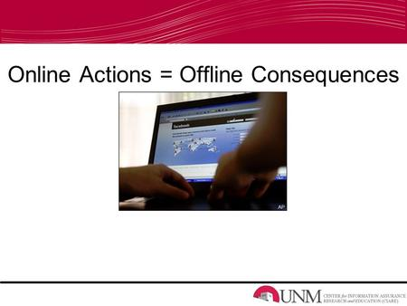 Online Actions = Offline Consequences. Profile Penalty Video URL:  lty